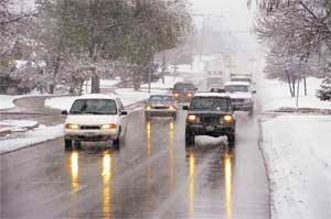 winter travel car accidents attorney