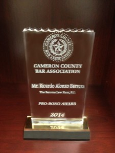 Cameron County Bar Association Pro-Bono Award